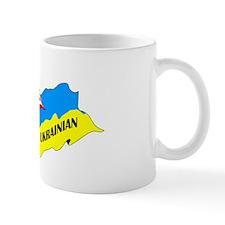American-Ukrainian Flags Mug