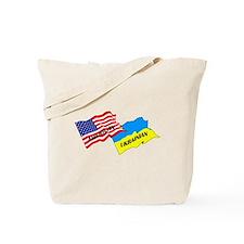 American-Ukrainian Flags Tote Bag
