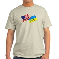 American-Ukrainian Flags T-Shirt