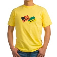 American-Ukrainian Flags T