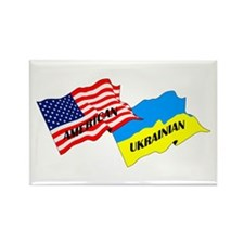 American-Ukrainian Flags Rectangle Magnet