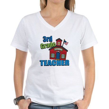 3rd Grade Teacher Women's V-Neck T-Shirt
