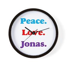 Peace. Love. Jonas. Wall Clock
