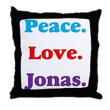 Peace. Love. Jonas. Throw Pillow