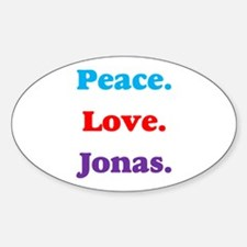 Peace. Love. Jonas. Oval Decal