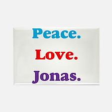 Peace. Love. Jonas. Rectangle Magnet