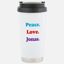 Peace. Love. Jonas. Stainless Steel Travel Mug