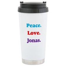Peace. Love. Jonas. Travel Mug