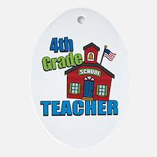 4th Grade Teacher Oval Ornament