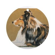 Sheltie Ornament (Round)