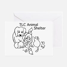 TLC Retro Logo Greeting Card