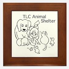 TLC Retro Logo Framed Tile