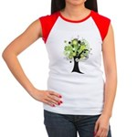 Tree Design #2033 Women's Cap Sleeve T-Shirt