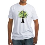 Tree Design #2033 Fitted T-Shirt