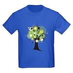 Tree Design #2033 Kids Dark T-Shirt