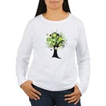 Tree Design #2033 Women's Long Sleeve T-Shirt