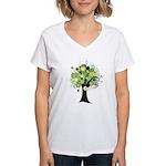 Tree Design #2033 Women's V-Neck T-Shirt