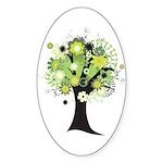 Tree Design #2033 Oval Sticker