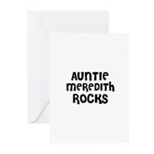 AUNTIE MEREDITH ROCKS Greeting Cards (Pk of 10