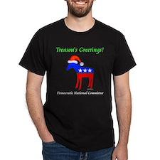 Treason's Greetings Black T-Shirt