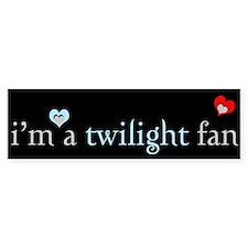 """I'm a Twilight fan"" Bumper Bumper Sticker"