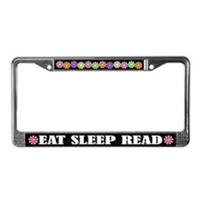 Eat Sleep Read License Plate Frame