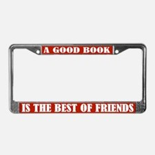 Good Book Reading License Plate Frame