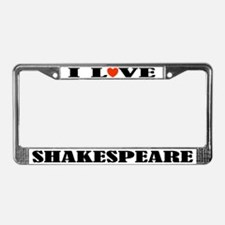 I Love Shakespeare License Plate Frame