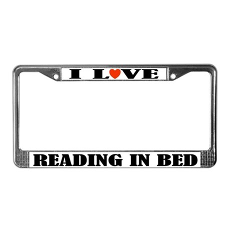 Reading In bed License Plate Frame