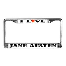 I Love Jane Austen License Plate Frame