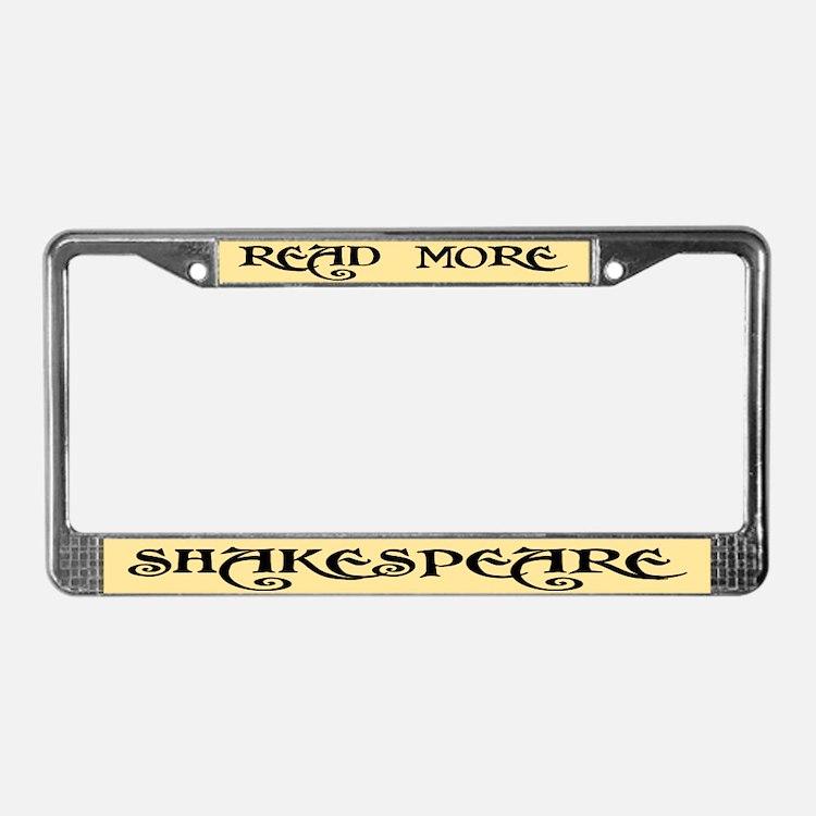 Read Shakespeare License Plate Frame