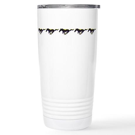 Wild Horses Stainless Steel Travel Mug
