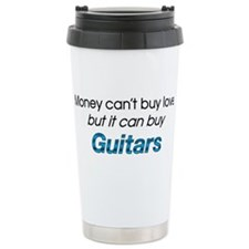 Money&Guitars Travel Coffee Mug