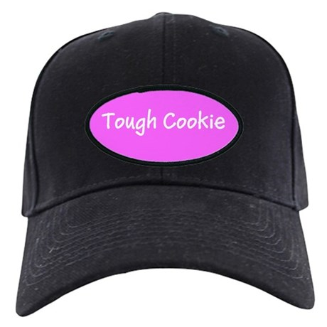 Tough Cookie Black Cap / Hat (pink)