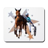 Harness horse racing Mouse Pads