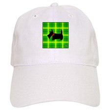 Green Plaid Scottie Baseball Cap