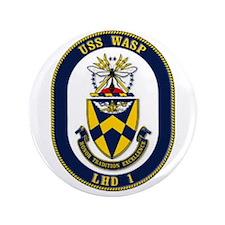 "USS Wasp LHD-1 Navy Ship 3.5"" Button"