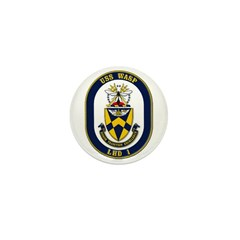USS Wasp LHD-1 Navy Ship Mini Button (100 pack)