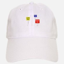 Love Across The Distance Baseball Baseball Cap