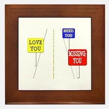 Love Across The Distance Framed Tile