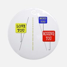 Love Across The Distance Ornament (Round)