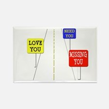 Love Across The Distance Rectangle Magnet (10 pack