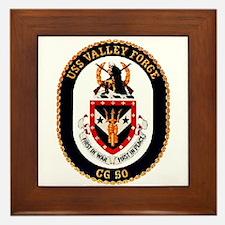 USS Valley Forge CG-50 Navy Ship Framed Tile