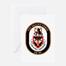 USS Valley Forge CG-50 Navy Ship Greeting Card