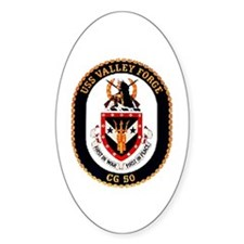 USS Valley Forge CG-50 Navy Ship Oval Decal