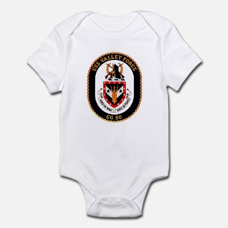 USS Valley Forge CG-50 Navy Ship Infant Bodysuit