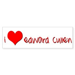 """I (heart) Edward Cullen"" Bumper Bumper Sticker"
