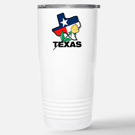 Texas Rose Stainless Steel Travel Mug