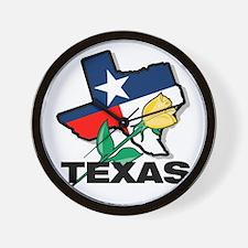 Texas Rose Wall Clock