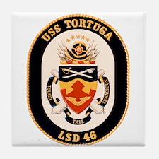 USS Tortuga LSD-46 Navy Ship Tile Coaster
